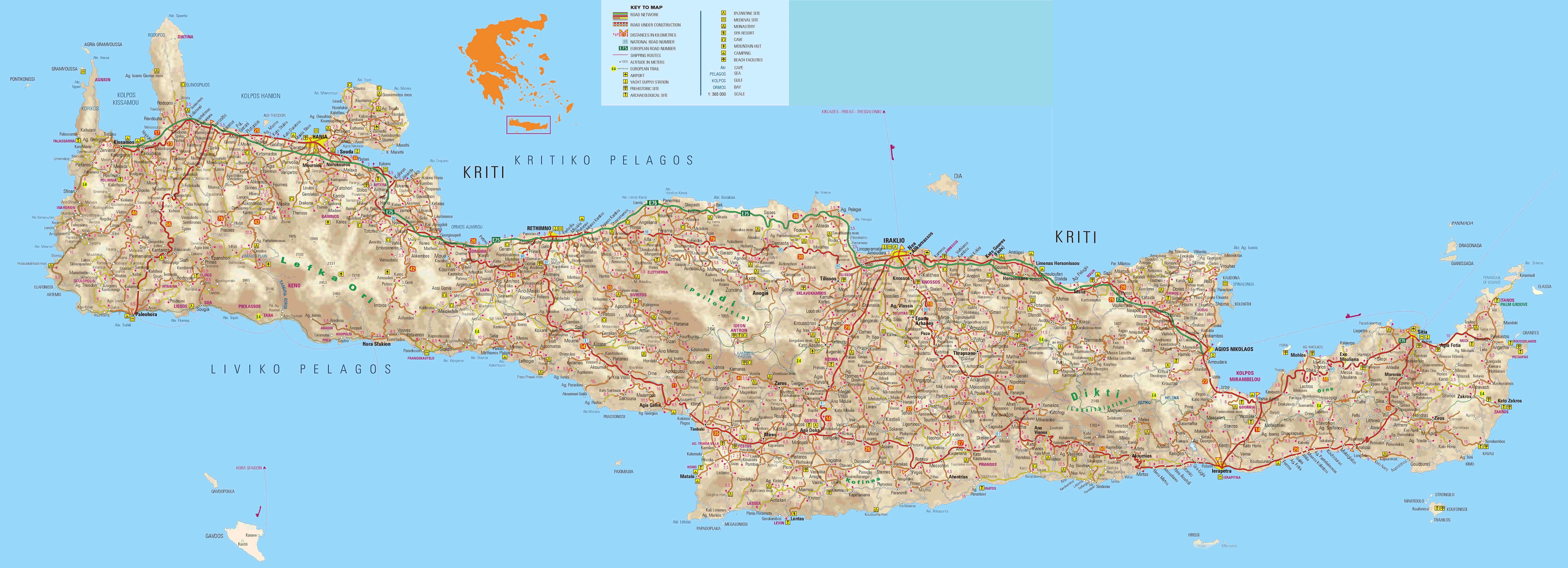 Kreeta saare kaart