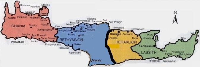 Kreeta saare piirkonnad